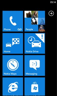 obr nokia drive start-screen-with-home-portrait