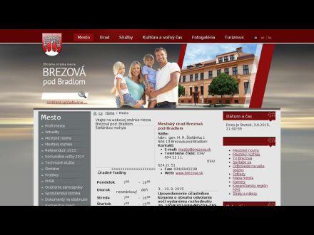 www.brezova.sk