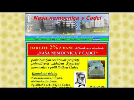 www.nemocnicacadcaoz.sk