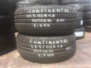R18 225/50 Continental  RSC 2x5.6mm DOT6014