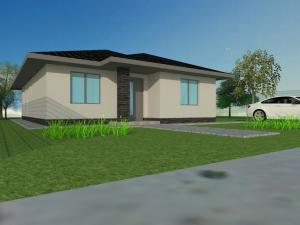 Kvalitný tehlový 4-izbový bungalov (106 m2), všetky IS na pozemku, RegioJet 1 km, Hviezdoslavov