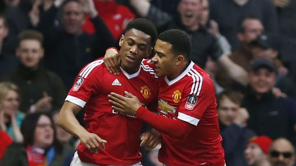 Anthony Martial Memphis Depay Manchester United Fa Cup mar16 Reuters