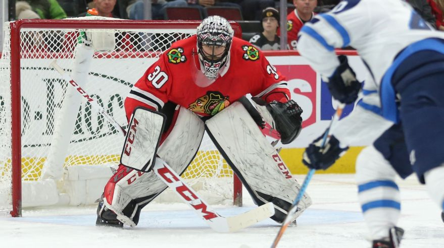 Brankár Chicaga Blackhawks Jeff Glass.