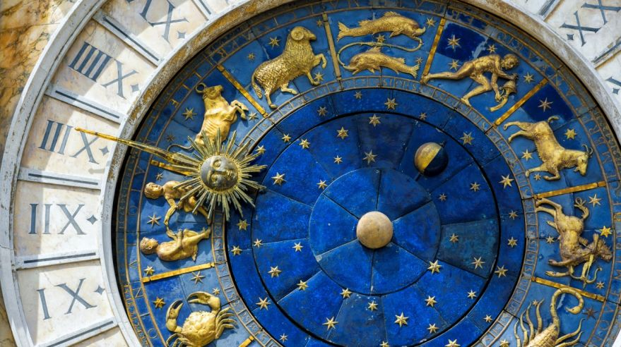 Ancient clock in the St. Mark's Square in Venice