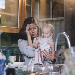 Stressed Single Mother
