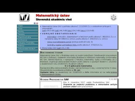www.mat.savba.sk