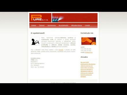 www.pure.sk