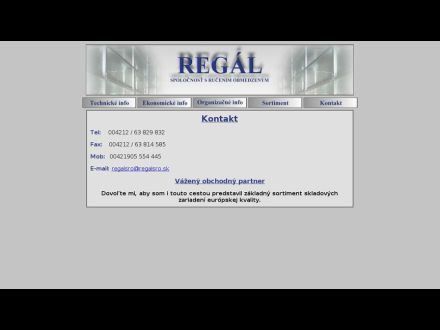www.regalsro.sk
