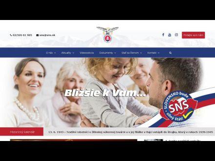 www.sns.sk