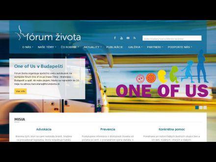 www.forumzivota.sk