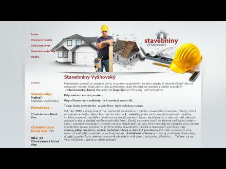 www.stavebninyvysnovsky.sk