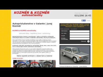 www.autosuciastkykozmer.sk
