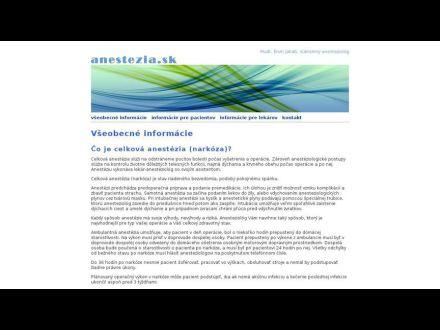 www.anestezia.sk