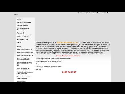 www.autovrakovisko.sk