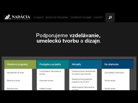 www.nadaciatatrabanky.sk