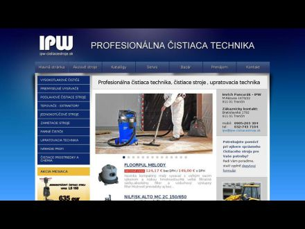 www.ipw-cistiacestroje.sk