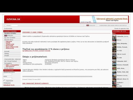 www.ozvena.sk