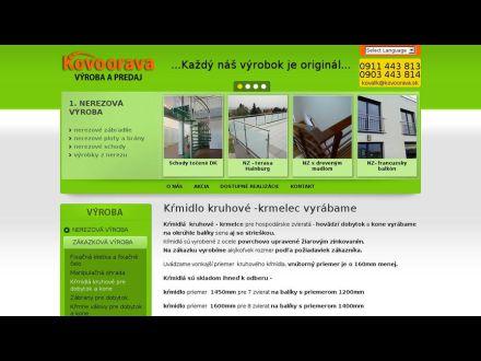 www.kovoorava.sk