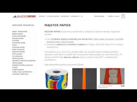 www.majsterpapier.sk
