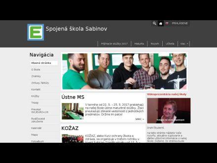 www.sossabinov.sk