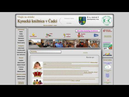 www.kniznica-cadca.sk