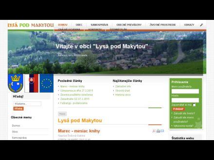 www.lysapodmakytou.sk