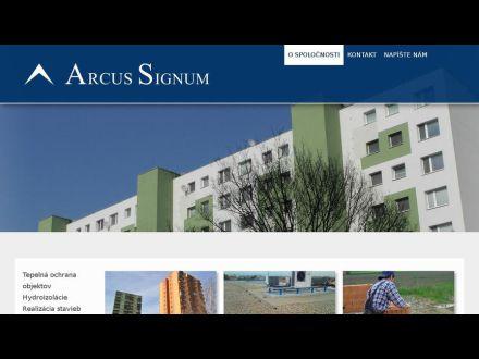 www.arcussignum.sk
