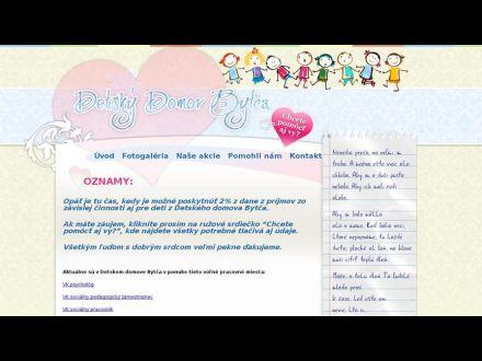 www.detskydomovbytca.sk