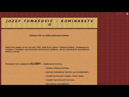 www.kominarstvotoma.szm.sk