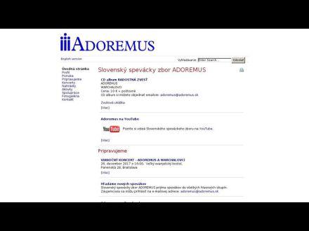 www.adoremus.sk