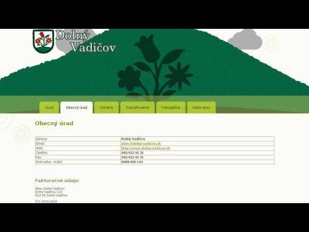 www.dolny-vadicov.sk