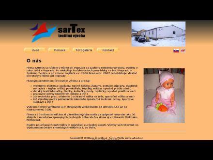 www.sartex.sk
