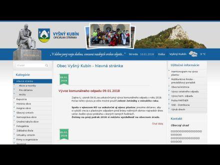 www.vysnykubin.sk
