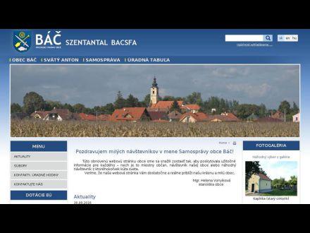 www.obecbac.sk