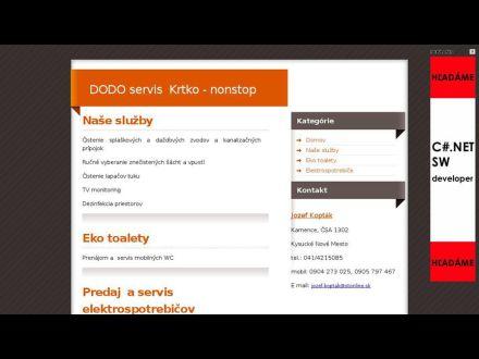 www.krtkovanie-dodo.sk