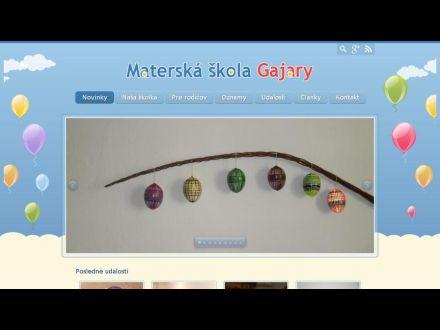 www.msgajary.sk