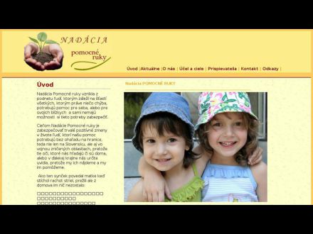 www.nadaciapomocneruky.sk