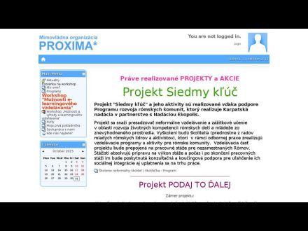 www.proxima-sk.sk