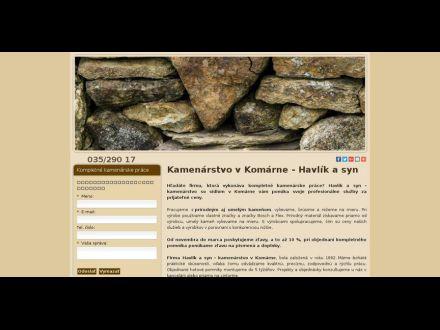 www.kamenarstvohavlik-komarno.sk