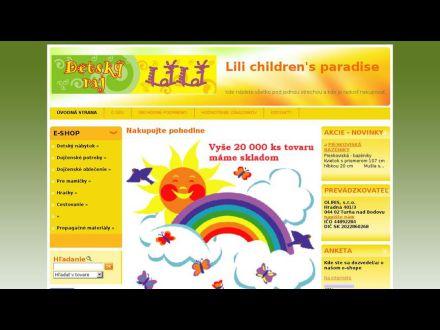 www.detskyrajlili.sk