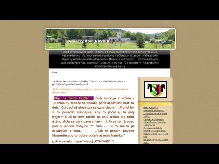 www.jazdeckyklubnavaho.estranky.sk