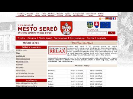 www.sered.sk/sport-sportova-hala-relax