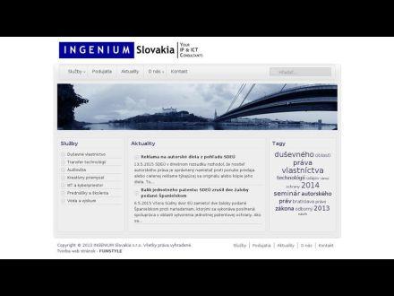 www.ingeniumslovakia.sk