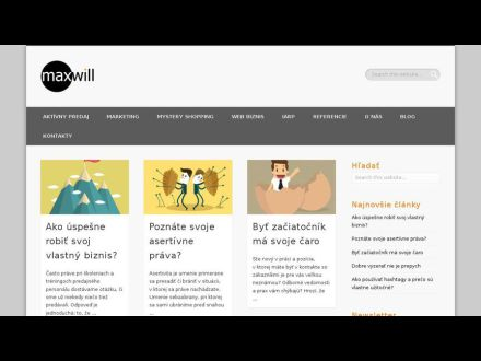 www.maxwill.sk