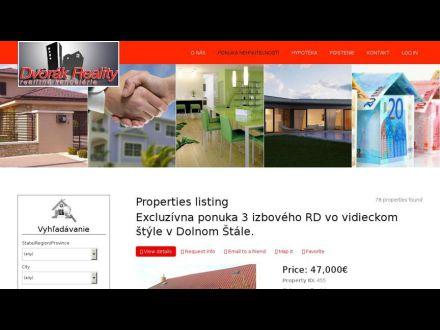 www.dvorak-reality.sk