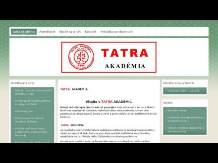 www.tatraakademia.sk