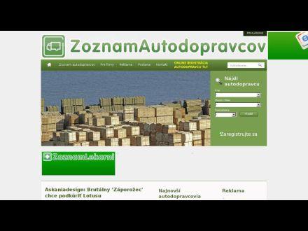 www.zoznamautodopravcov.sk