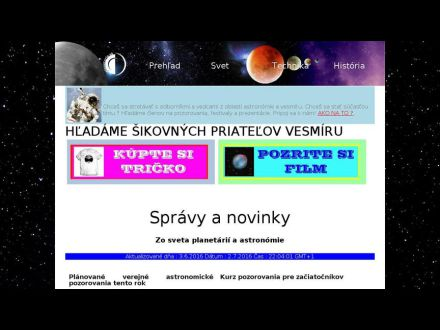 www.planetaria.sk