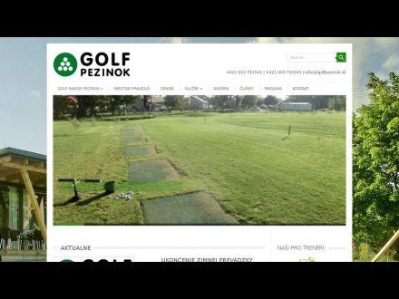 www.golfpezinok.sk