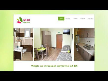 www.ubytovnagaba.sk